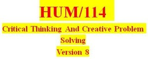 HUM 114 Week 1 Stages of Critical Thinking Worksheet