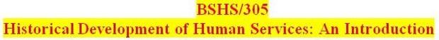 BSHS 305 Week 1 Foundations of Human Services Worksheet