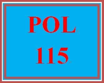 POL 115 Week 5 Electoral College Simulation Exercise Worksheet