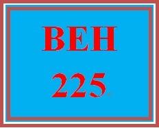 BEH 225 Week 7 Attitudes