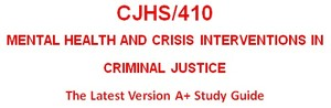 CJHS 410 Week 5 Psychological Support Agency