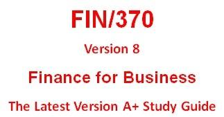 FIN 370 Entire Course