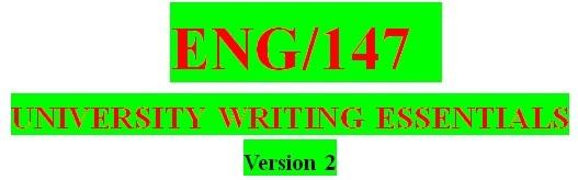 ENG 147 Week 6 Completing the Essay Worksheet