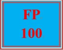 FP 100 Week 4 Credit History Worksheet