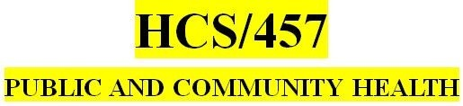HCS 457 Week 2 Learning Team Preparation