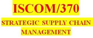 ISCOM 370 Week 3 Service Versus Product Supply Chain Design