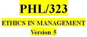 PHL 323 Week 1 Personal Ethics Development Paper