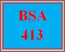 BSA 413 Week 5 Individual: Test Prep