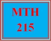MTH 215 Week 4 MyMathLab® Week 4 Checkpoint