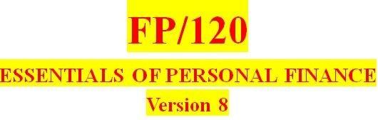 FP 120 Week 4 Quiz - in class