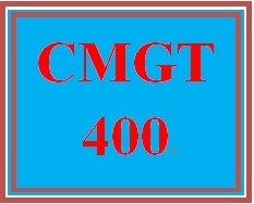 CMGT 400 Week 4 Learning Team: Create Secure Environment