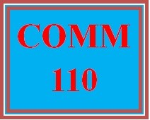 COMM 110 Week 3 Speech and Presentation Critiques