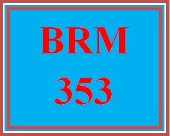 BRM 353 Week 1 Loyal Customer Worksheet