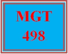 MGT 498 Week 4 Strategy Formulation
