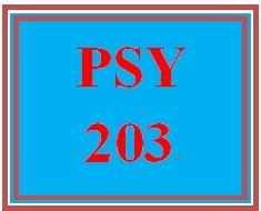 PSY 203 Week 4 Review Worksheet