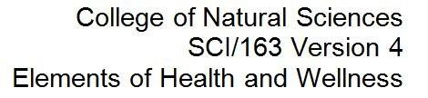 SCI 163 Week 3 Chronic Diseases