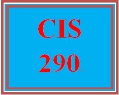 CIS 290 Week 3 Worksheets (Appendices D & E)