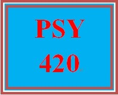 PSY 420 Week 3 participation Shaping