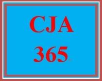 CJA 365 Week 5 City Council Budget Proposal