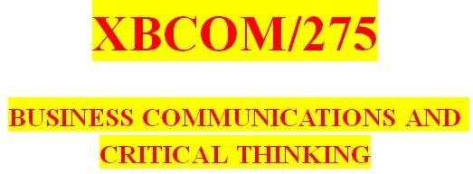 XBCOM 275 All DQs