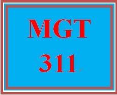 MGT 311 Week 2 Organizational Issue Topics