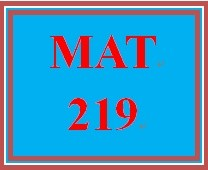 MAT 219 Week 2 participation Slope