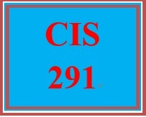 CIS 291 Week 3 Individual Component and Security Comparison