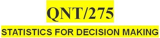 QNT 275 Final Exam