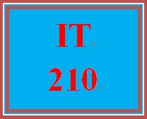IT 210 Entire Course