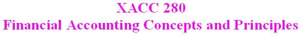 XACC 280 Week 2 CheckPoint