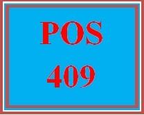 POS 409 Week 3 Individual: Exception Handling