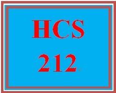 HCS 212 Entire Course