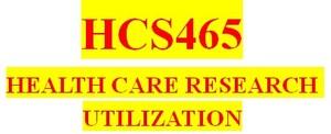 Entire HCS465 Course