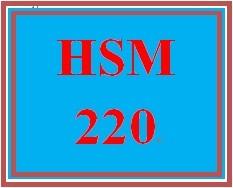 HSM 220 Week 9 Short Answer