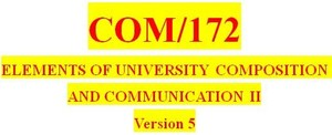 COM 172 Week 1 Research Plan