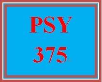 PSY 375 Week 5 Interview a Senior Citizen