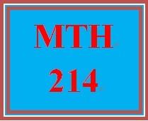 MTH 214 Week 4 Study Plan