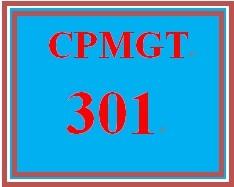 CPMGT 301 Week 2 Learning Team Charter