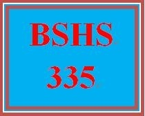 BSHS 335 Week 2 Learning Team Charter