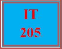 IT 205 Week 1 Week One Knowledge Check