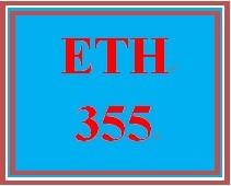 ETH 355 Week 2 Weekly Reflection