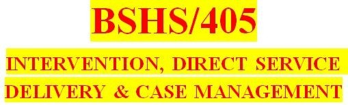BSHS 405 Week 2 Models Chart