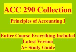 ACC 290 Entire Course