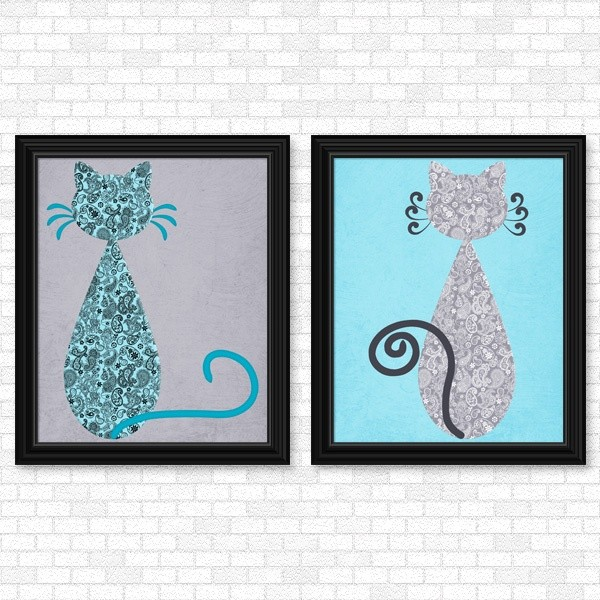 Cats - Paisley Set - Printable Wall Art - Linda\'s Digi Creations