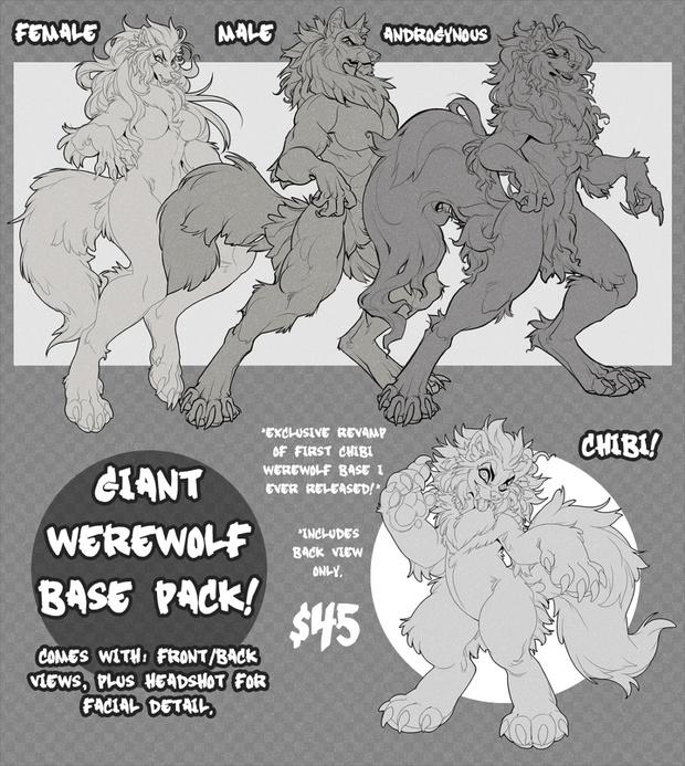 Mega Werewolf Base Pack