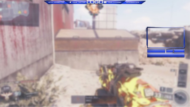 Clean easy edit Twitch Overlay