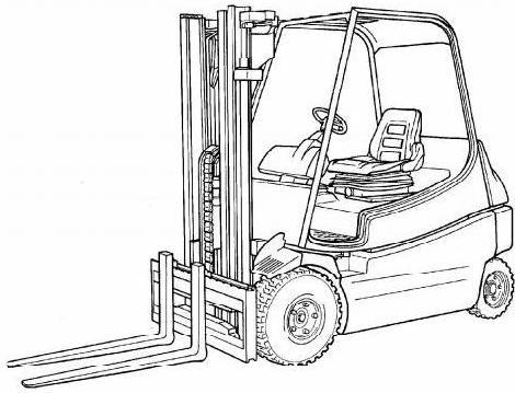 Linde E20 E25 E30 Electric Forklift Truck 336 Series
