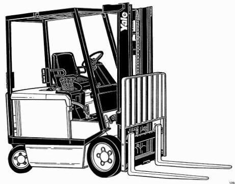 Yale ERC030 AF/AG/BG, ERC040 AF/AG/BG Electric Forklift Truck A814 Series  Workshop Service Manual