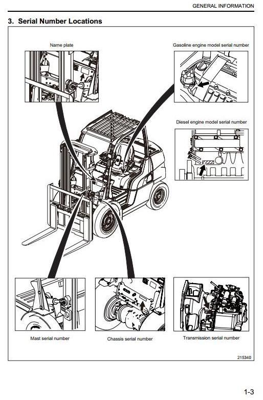 Caterpillar GP40N, GP45N, GP50CN, GP50N, GP55N Gasoline & LPG Forklift  Truck Workshop Service Manual