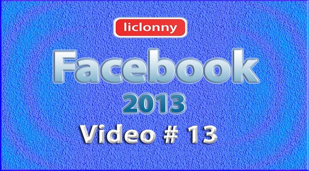 Tutorial Facebook 2013 (Español) No. 13